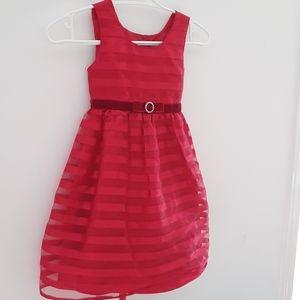 🍒 Jona Michelle Girls Fancy  Red Dress